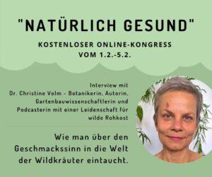 """Interview beim Online-Kongress """"NATÜRLICH GESUND"""" @ online"""